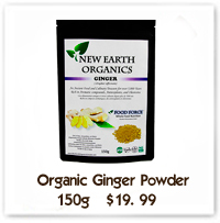 Organic Ginger Powder New Earth Organics Alberta Canada