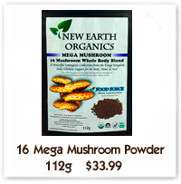 Superfood 16 Mushroom Powder New Earth Organics Canada