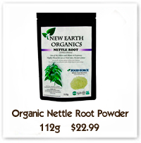 Nettle Powder For Healthy Liver, Spring Kickstart, Connective Tissue Health Including Lungs New Earth Organics